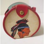 Vintage 1950s CHILD'S PURSE with NATIVE AMERICAN INDIAN GRAPHIC UNUSED