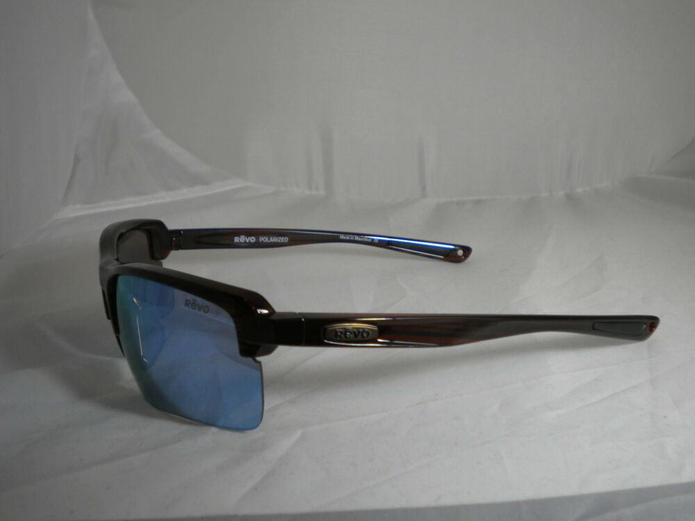 190f082202 REVO RE 1021 02 BL CRUX C BROWN WOODGRAIN BLUE WATER Polarized (R-54 ...