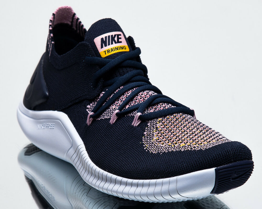 separation shoes de8fb eea32 Details about Nike Wmns Free Trainer Flyknit 3 Women New Navy Training  Shoes 942887-400