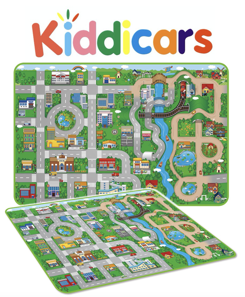 Giant Kids City Road Play Mat Childrens Car Road Carpet