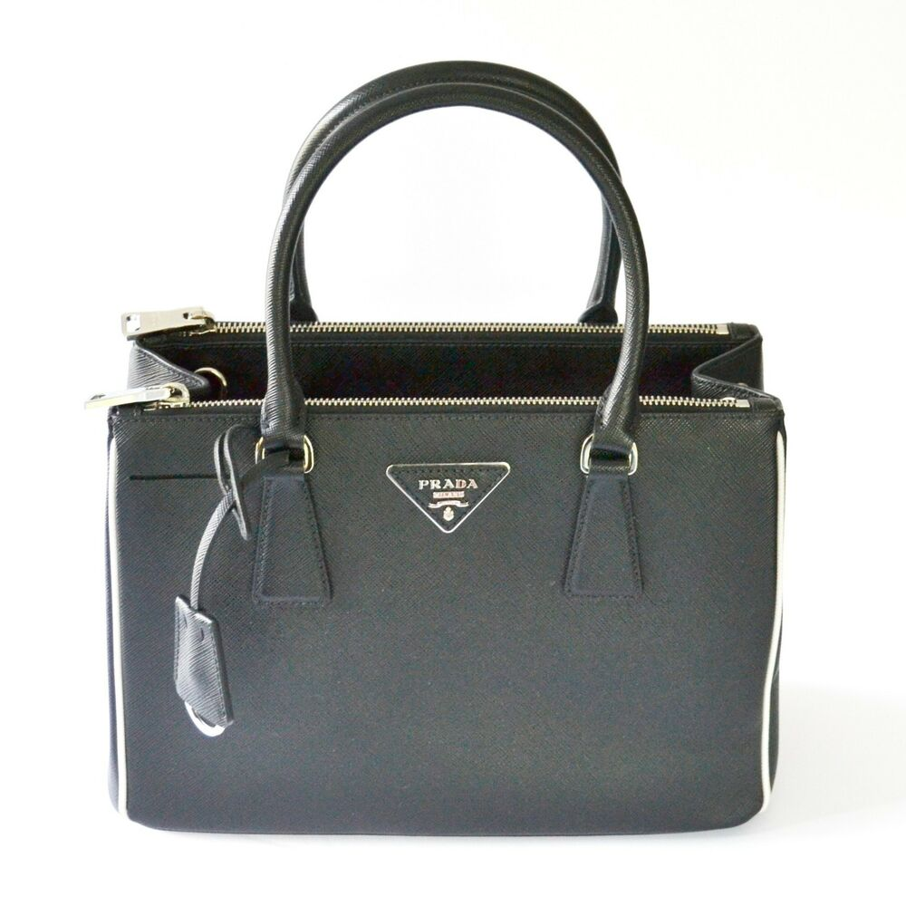 3c91fd6913 Details about Prada 1BA863 F0N12 Galleria Saffiano Lux Leather Convertible Tote  Bag - Black