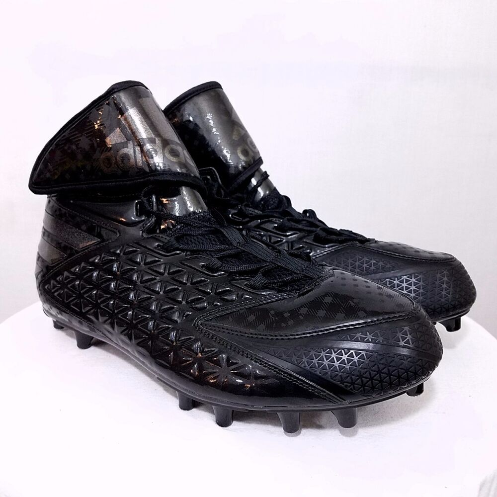promo code e5ff7 538c2 Details about Adidas Mens Freak High Football Cleats Shoes D70152 Black  Size US 13 NEW