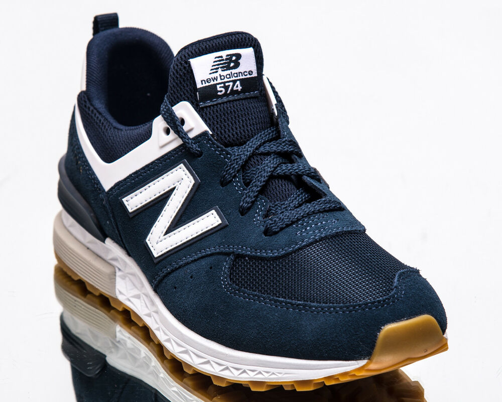 27b3c89e9be Details about New Balance 574 Sport Men New Indigo White Casual Lifestyle  Sneakers MS574-FCN
