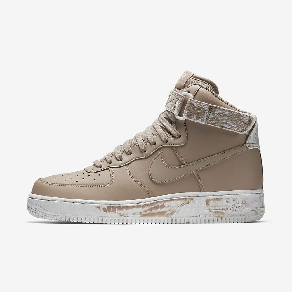 big sale a5d8d 824a8 Details about Nike Air Force 1 One High LV8 Sand Summit White Tan AT3293  200 Marble AF1 Hi SZ