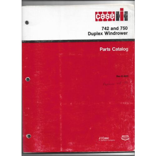 original-oe-oem-1987-case-ih-model-742-750-duplex-windrower-parts-catalog-84020