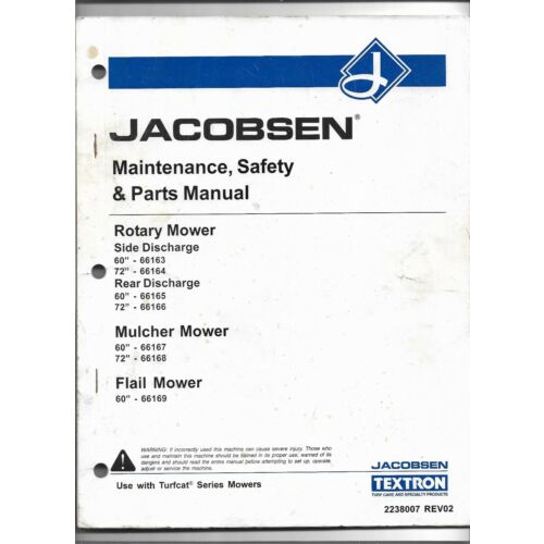 original-jacobsen-66163-66164-66165-66166-66167-66168-66169-mower-parts-manual