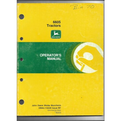 original-oem-oe-john-deere-model-6605-tractor-operators-manual-omal116328m7
