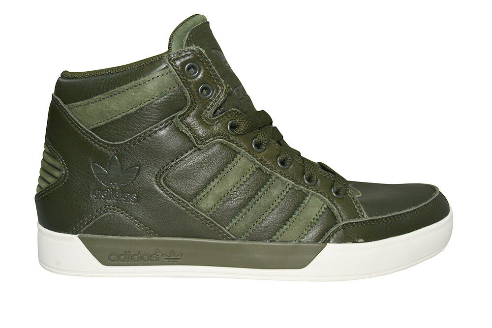 new photos 7fe8c 6d76f Mens Adidas Hardcourt HI Waxy Crafted - BB6783 - Green White Trainers  eBay