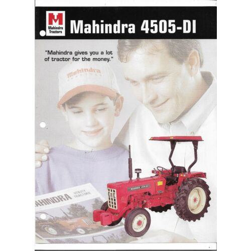 original-mahindra-model-4505-di-tractor-sales-brochure-spec-specifications-sheet