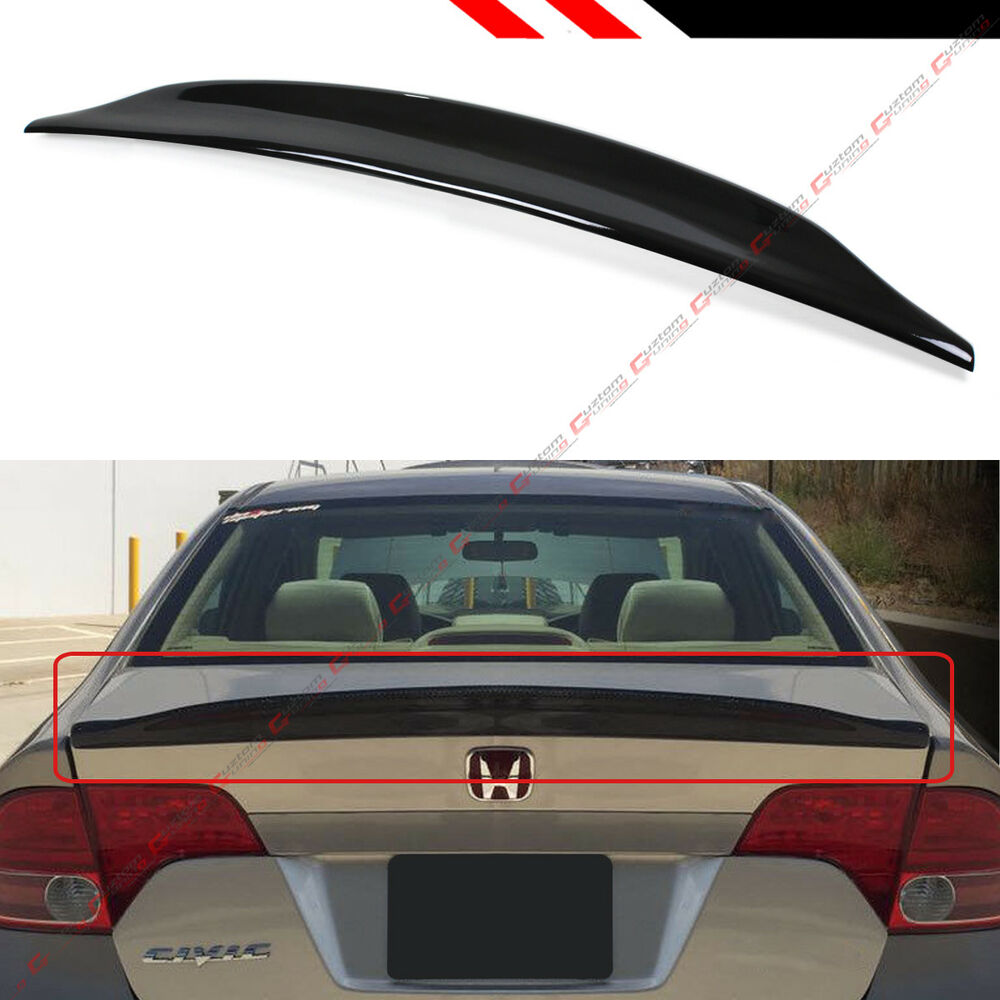 Automobiles & Motorcycles Car Rear Window Roof Spoiler Wing Visor Glossy Black For Honda For Civic 4dr 2016 2017 2018 4 Door Sedan All Models Clear And Distinctive Exterior Parts