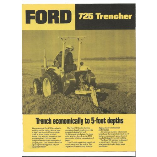 original-oem-oe-ford-model-725-trencher-sales-brochure-spec-sheet-ad1070-38230