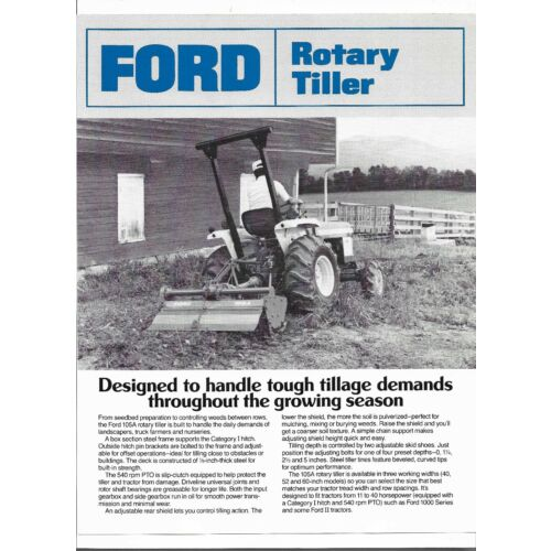 original-ford-model-105a-rotary-tiller-specifications-brochure-no-ad2667-18750