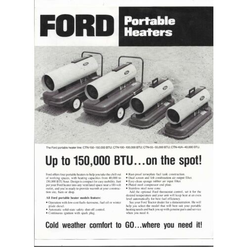 ford-portable-heaters-ctn40a-ctn55-ctn100-ctn150-specifications-sales-brochure