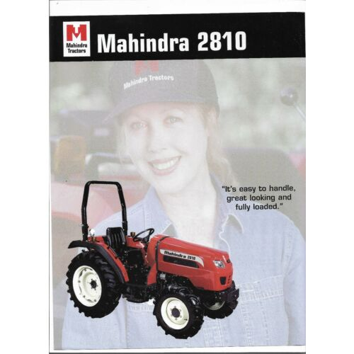 original-mahindra-2810-tractor-dealer-sales-brochure-spec-specifications-sheet