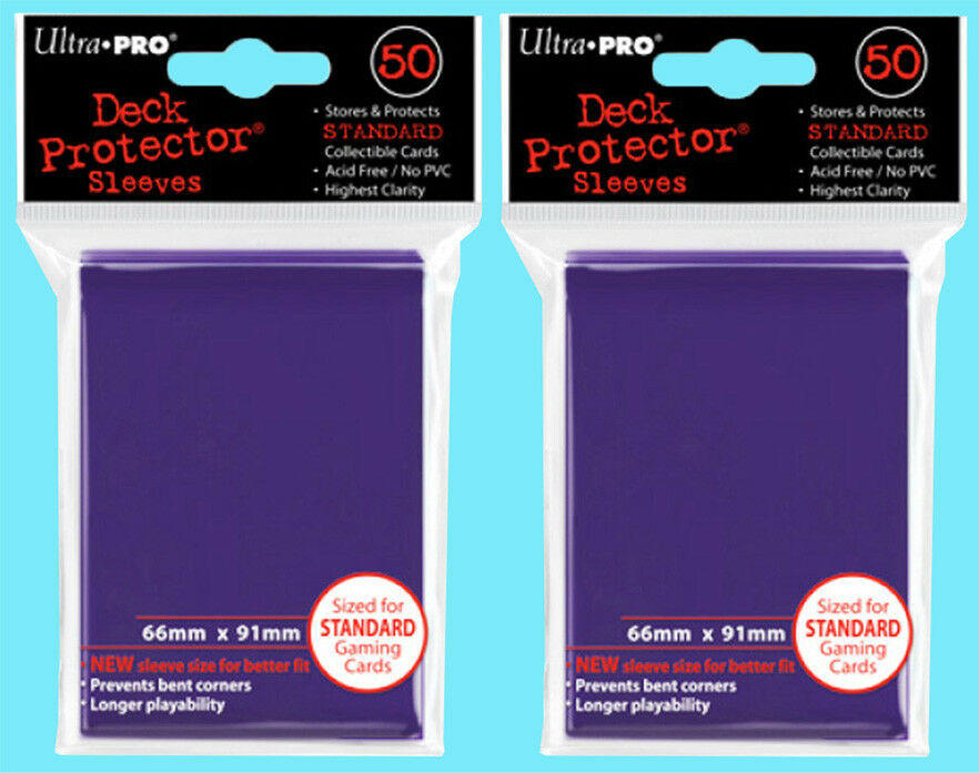 f870da8f21d Details about 100 Ultra Pro DECK PROTECTOR Standard Size Gaming Card Sleeves  PURPLE mtg ccg