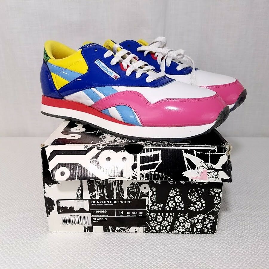 852d90d38d3 Details about Reebok Classic X Rolland Berry Mens Shoes Patent Leather  LIMITED EDITION US 14
