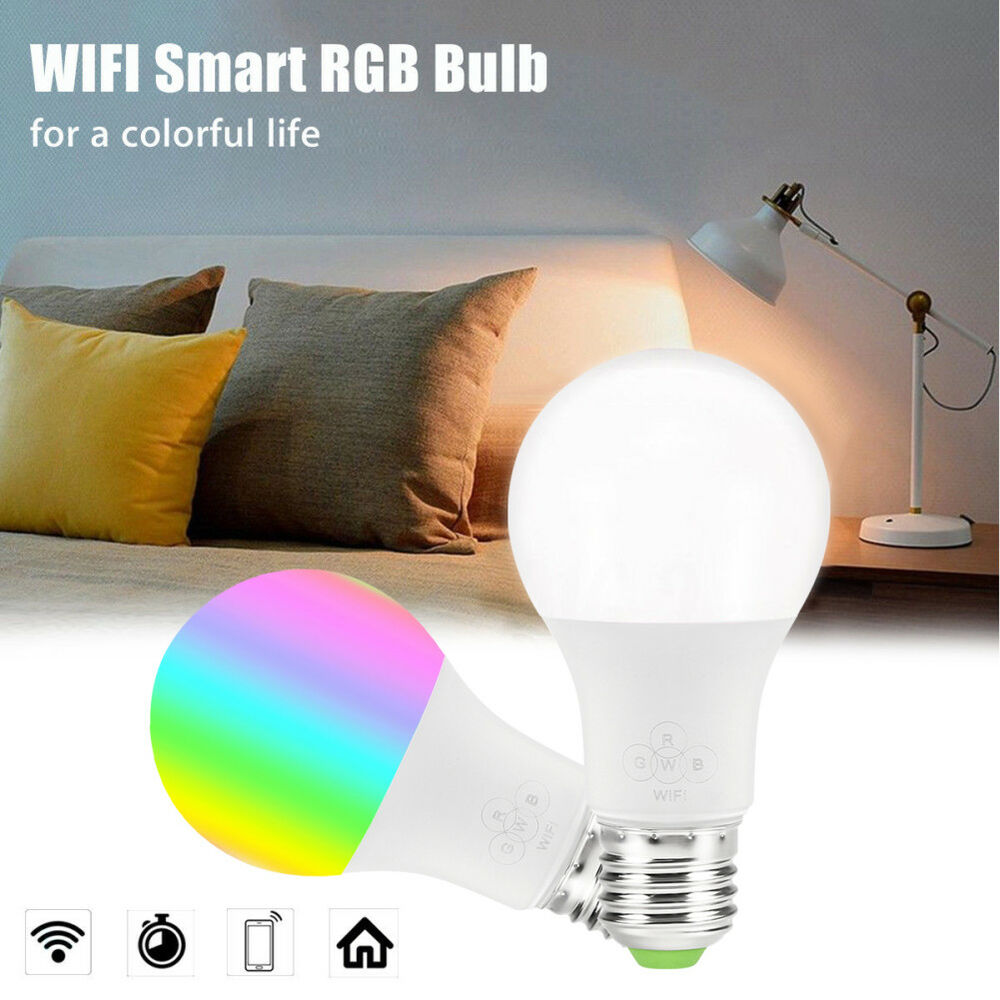 Wifi Smart Light Bulb Dimmable Wake Up Lights Compatible