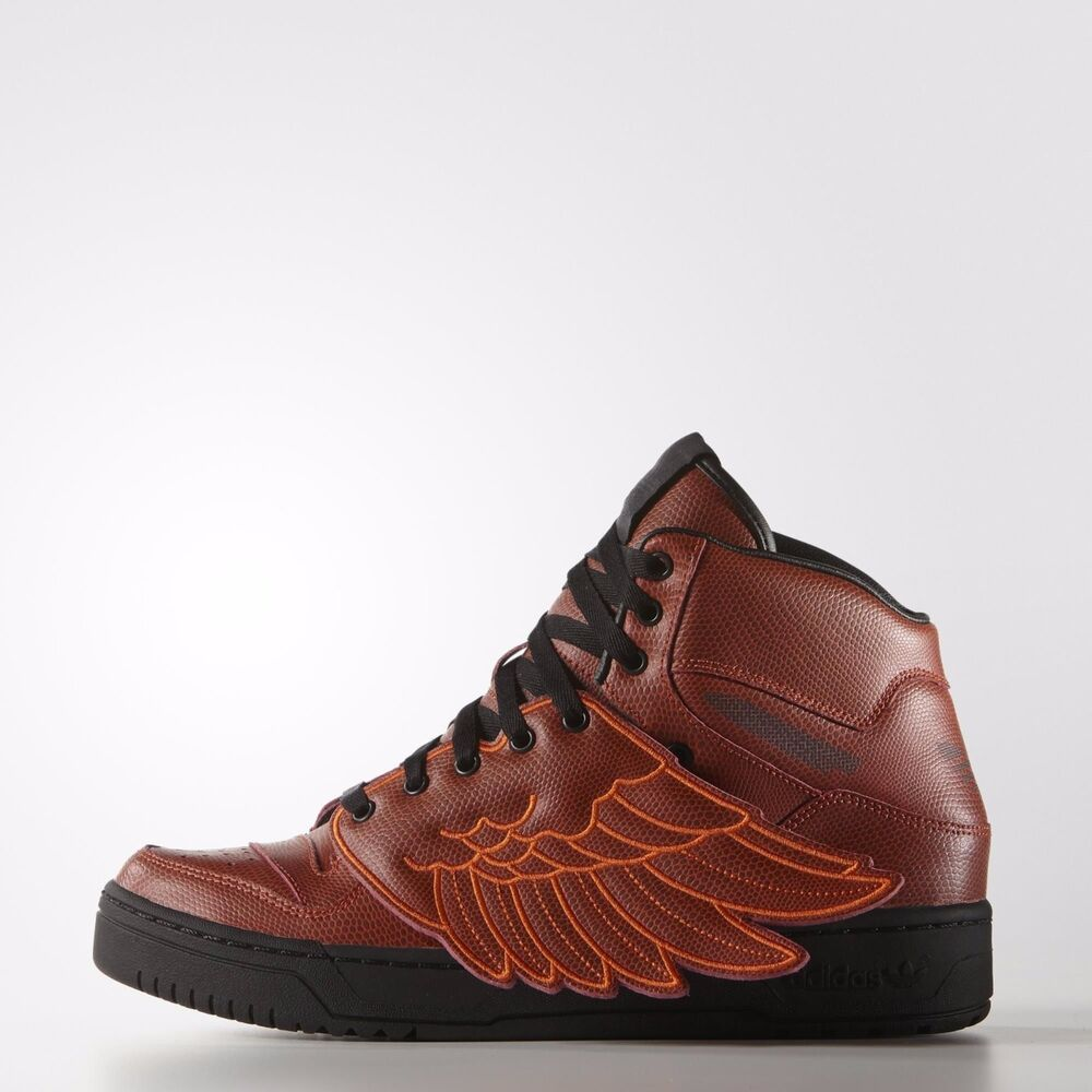 low priced 7b972 00e08 Details about ADIDAS ORIGINALS JEREMY SCOTT JS WINGS BBALL MEN S SHOES SIZE  US 5 RED S77803