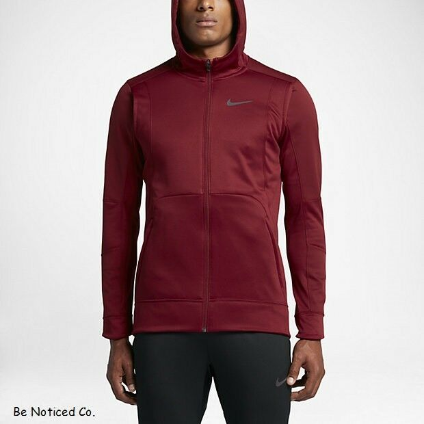 online store 3a86f 9064d Details about Nike Therma Hyper Elite Men s Basketball Hoodie S M XL 2XL  Red Jacket Full ZIp