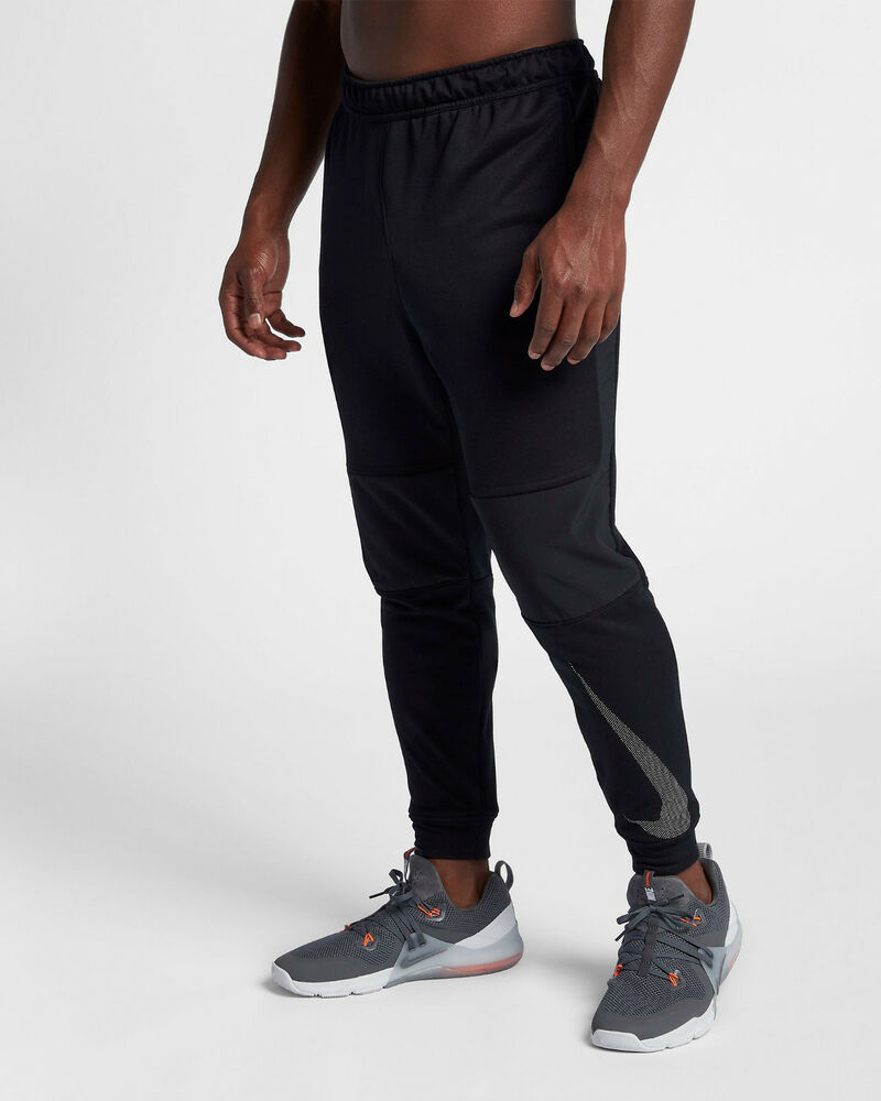 19ed47b11e9b Details about Nike Dri-FIT Men s Training Pants XL Black Gray Gym Casual Trousers  Running New