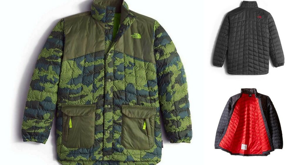 e768b01c2 The North Face Boy's Hayden Thermoball Jacket NF0A2TLT GraphiteGry  Terrarium Grn | eBay
