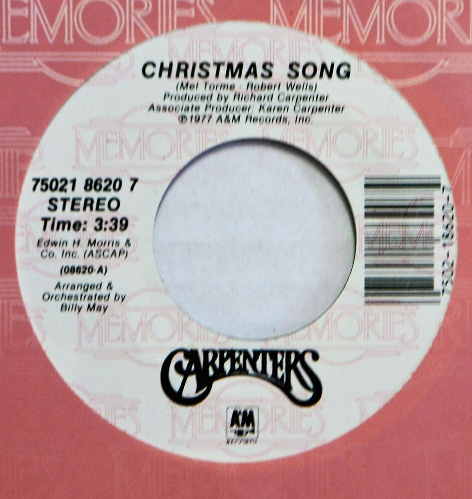 Carpenters Christmas Song Merry Xmas Darling 45 7\