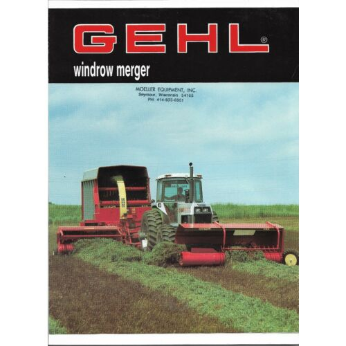 original-oe-oem-gehl-model-1160-windrow-merger-sales-brochure-form-number-4513