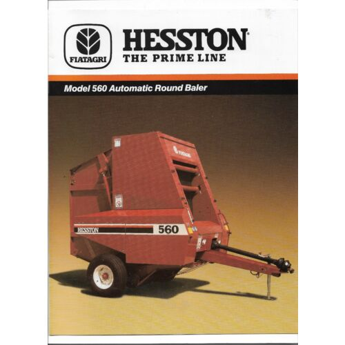 original-fiat-agri-hesston-560-automatic-round-baler-sales-brochure-705500040a