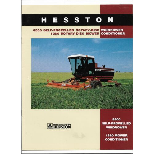 original-hesston-8500-windrower-1360-mower-conditioner-sales-brochure-79016556
