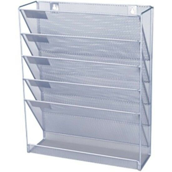 A4 Wall Mounted File Document Organizer Holder Mesh Office