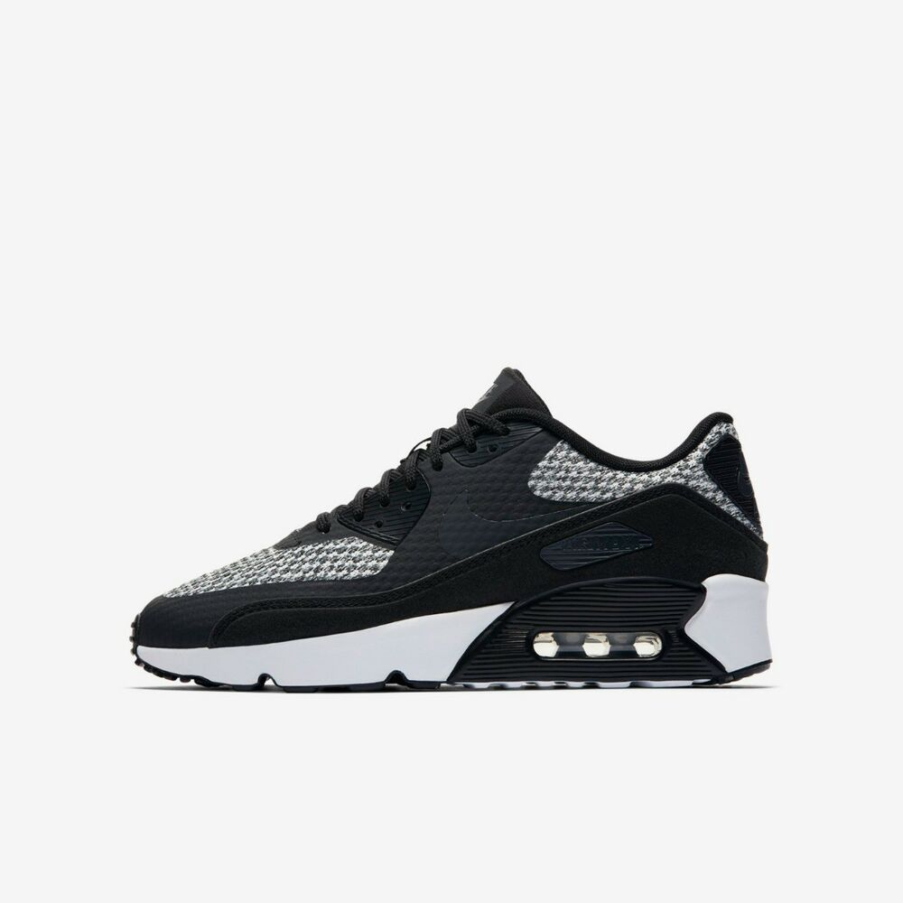 826d1f9ef13 Details about NIKE AIR MAX 90 MESH BOYS GIRLS SIZE 5 - 6 BLACK GREY TRAINER  SHOE RUN