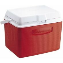 (22.7l, Red) - Rubbermaid 24 Quart Classic Red Victory Personal Cooler