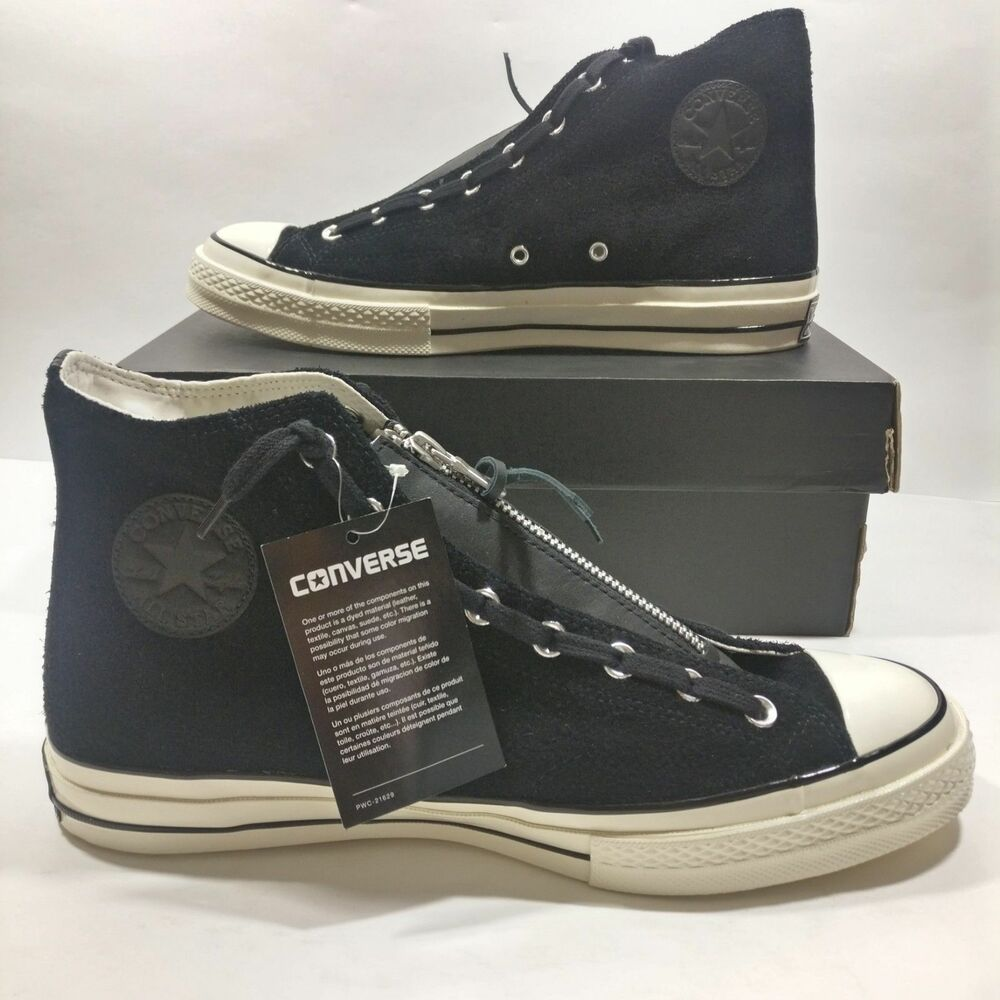 9be814bfaa00 Details about Mens Converse Chuck Taylor All Star Zip High Black White Shoe  Multi Size 159756C