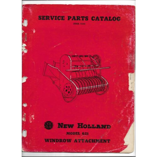 original-new-holland-621-windrow-attachment-service-parts-catalog-dated-051954