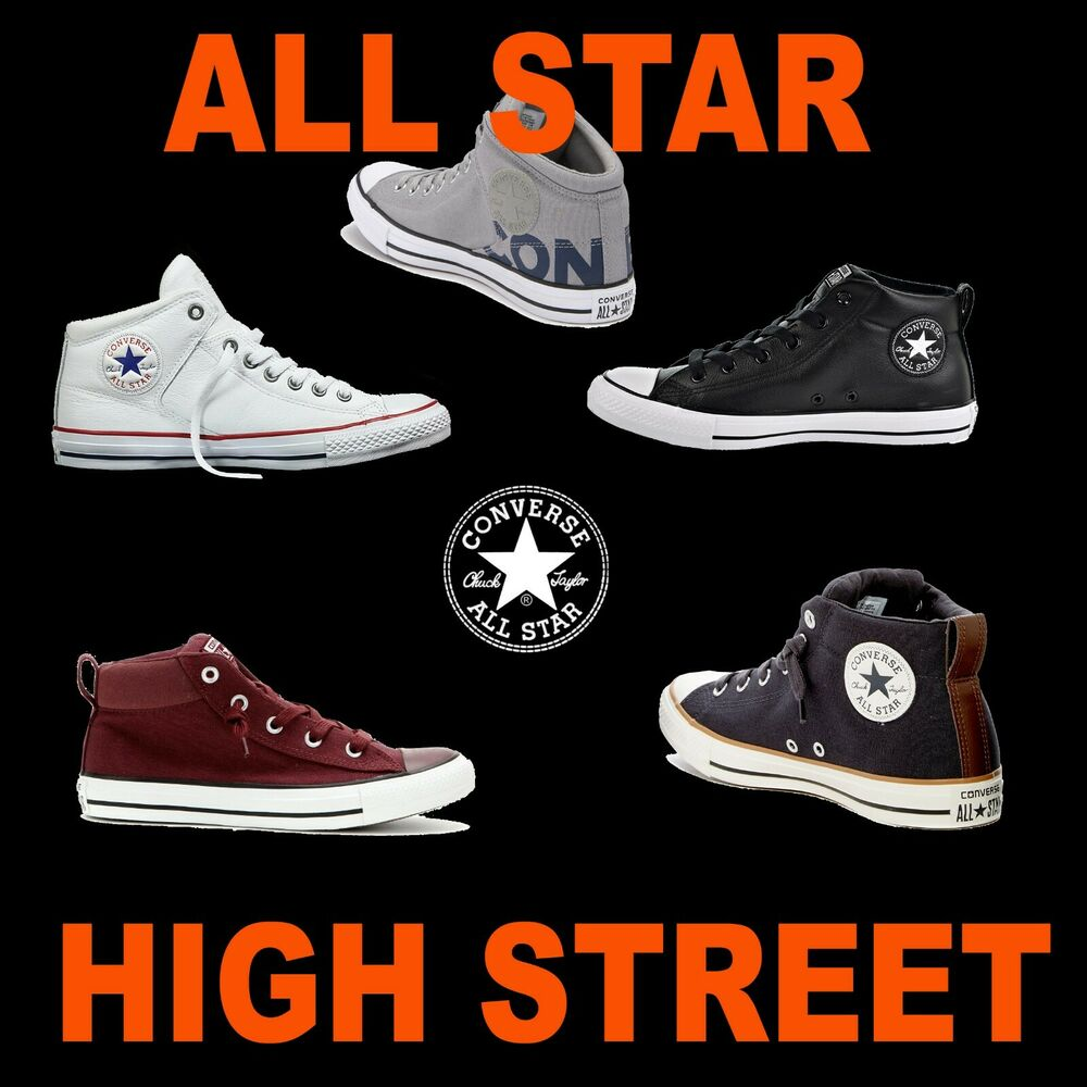 1bbc418996fc UNISEX CONVERSE CANVAS LEATHER MID CHUCK TAYLOR ALL STAR HI STREET SNEAKERS  KEDS