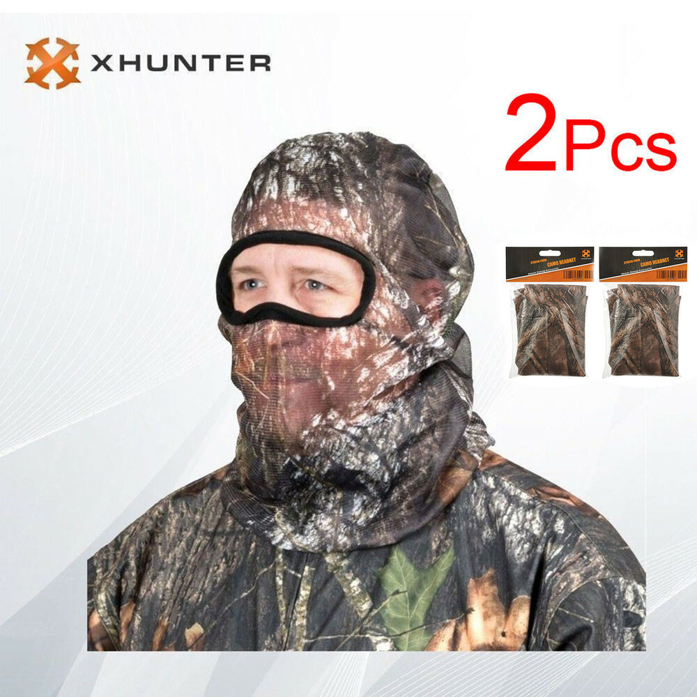 5b4bd2a4f27a8 Details about 2pcs Hunting Headnet Head Net Camo Mesh Mash Fly Mosquito Face  Cover Mossy Oak