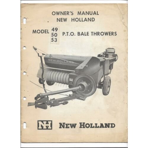 original-new-holland-49-50-53-pto-bale-thrower-owners-manual-form-o-4950-pto
