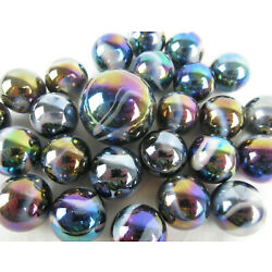 Kyпить 25 Glass Marbles MILKY WAY Purple/Gold Oil Slick Metallic Iridescent Shooter new на еВаy.соm