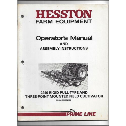 original-hesston-2240-field-cultivator-operators-manual-700-704-300-march-1985