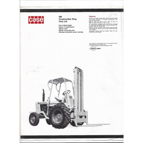 original-case-580-construction-king-fork-lift-sales-brochure-form-no-ud58570g
