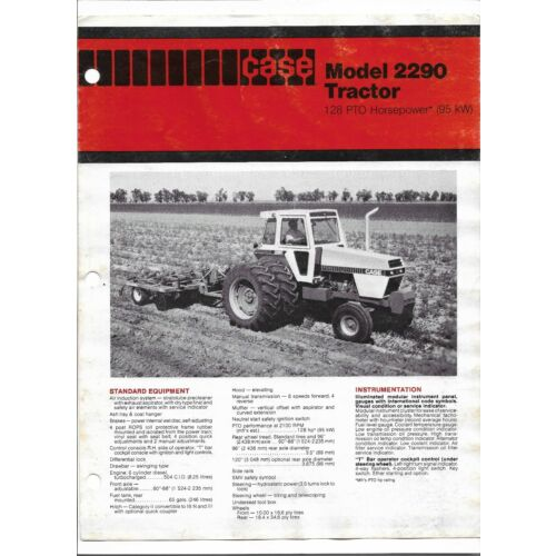 original-case-128-pto-hp-model-2290-tractor-sales-brochure-form-number-a16678j1