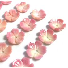 2 PC Natural Queen Conch Shell Flower 12mm - NEW DIY Bead Design Wholesale