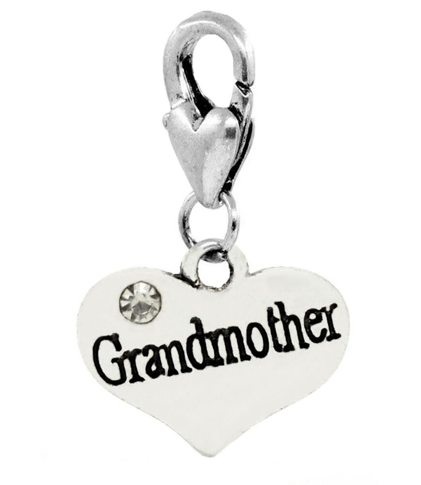 23fbd39a1 Details about Grandmother Heart Grandmom Granddaughter Gift Lobster Clip  Charm for Bracelets