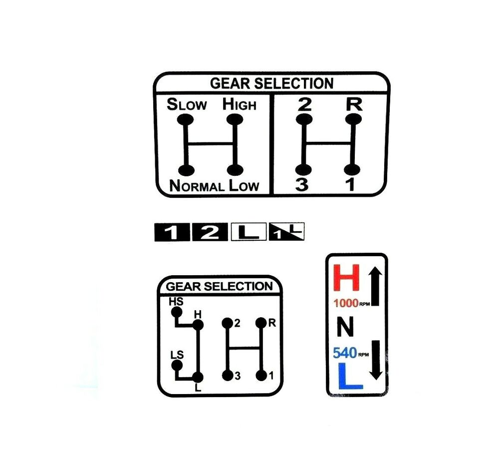 gear  u0026 pto selection decal fits david brown 770 780 880 885 990 995 996 tractors