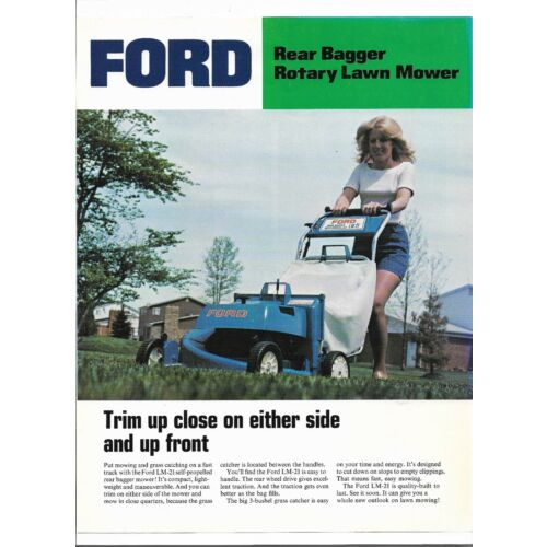 original-oem-ford-rear-bagger-rotary-lawn-mower-dealer-sales-brochure-spec-sheet