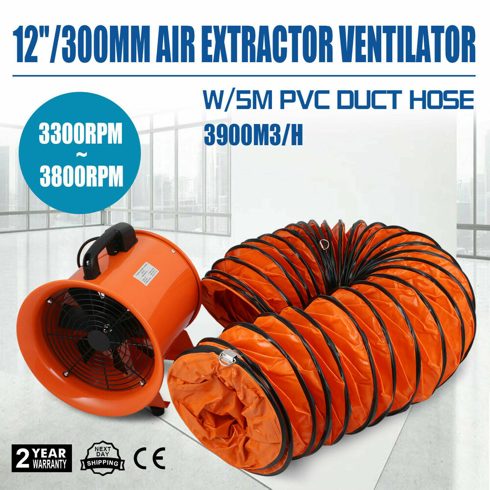 "12"" Inch Extractor Fan Blower portable 5m Duct Hose ..."
