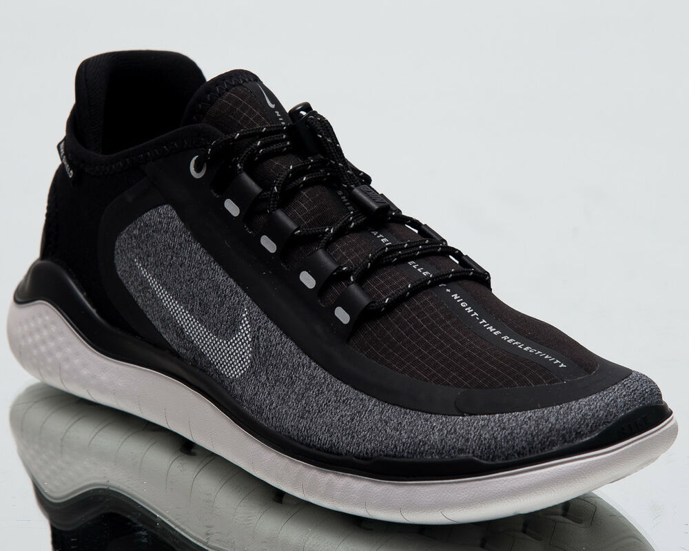 95eee5e2ac47 Details about Nike Wmns Free RN 2018 Shield Women New Black White Running  Shoes AJ1978-002