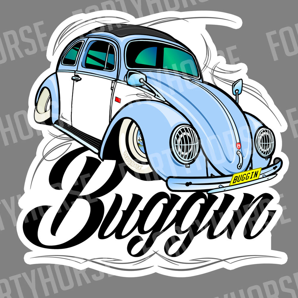 Details about volkswagen vw stickers beetle buggin