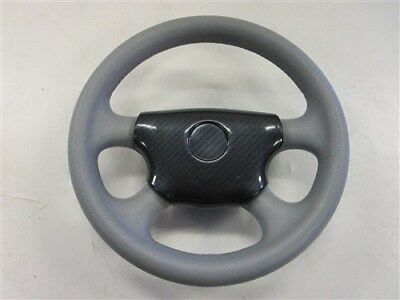 STEERING WHEEL GRAY / CARBON FIBER CENTER WITH HUB 13 1/2