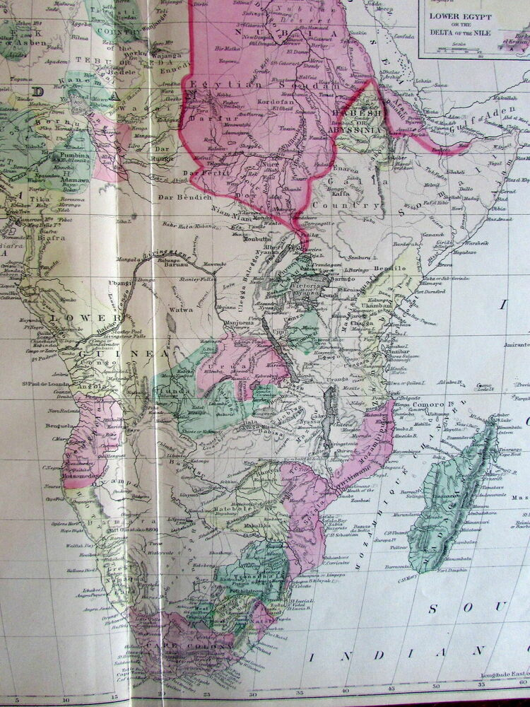 Africa names Stanley & Livingstone interior 1881 Mitchell